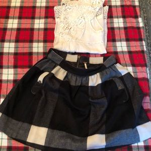 FREE PEOPLE fully lined wool skirt